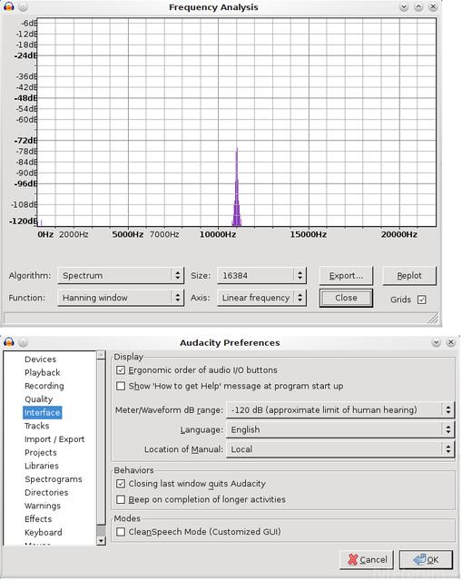 Audacity FFT Variable Range