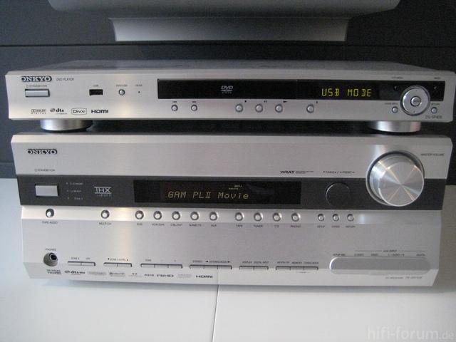 Onkyo AV-Receiver TX-SR705 Kompl. Mit Onkyo DV SP 405 DVD-Player