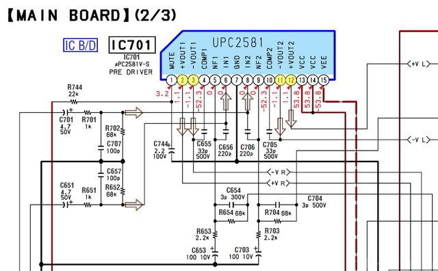 Sony STR-DE695 - µPC2581