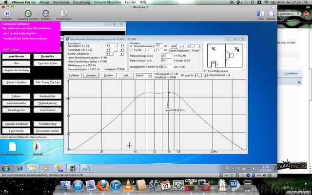 BassCad Berechnung Alpine Bandpass