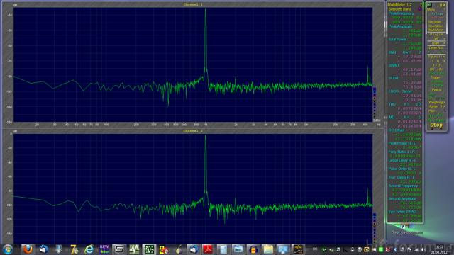 Klirrmessung Mit 1kHz Panasonic DMP-BDT310EG An Focusrite Saffire PRO 24 Ohne Sound-Programme