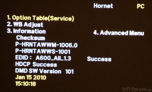Samsung A600 - Service Menu - Information