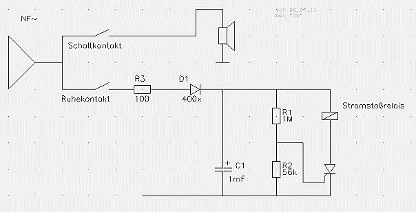 NF- Gesteuerter Verstärker-Umschalter Mit Stromstoßrelais