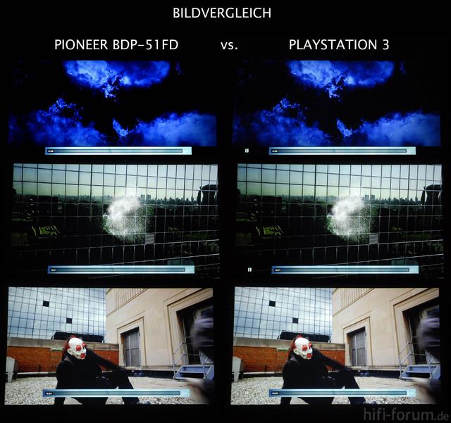 Bildvergleich Pioneer BDP 51 Vs PS3