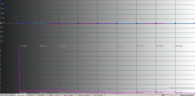 JVC DLA-X3 Graustufenverlauf Nach Der Kalibrierung
