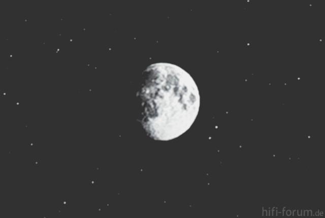 Mond Mit Ausgeschalteter Auto Iris