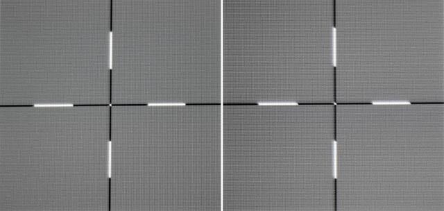 Optoma HD27 - Schärfe links linke Bildseite, rechts Bildmitte - Foto Michael B. Rehders