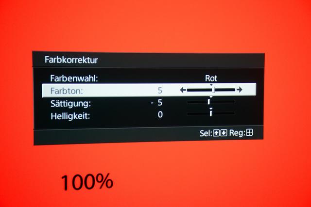 Sony VPL-HW45 - Farbkorrektur Rot