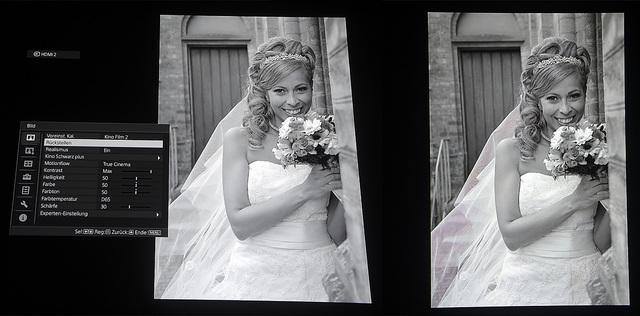 Sony VPL-VW520 - Screenshot Braut v.l. Full-HD und UHD - Foto Michael B. Rehders
