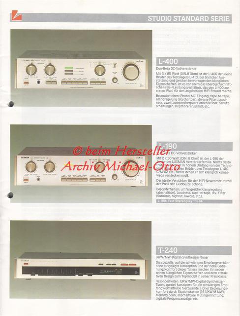 Luxman L400 Katalogscan