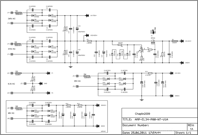 Netzteil EL34-AMP