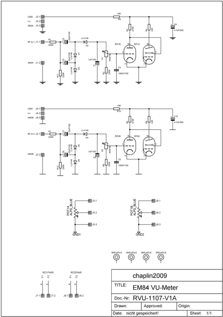 VU-Meter Schematic