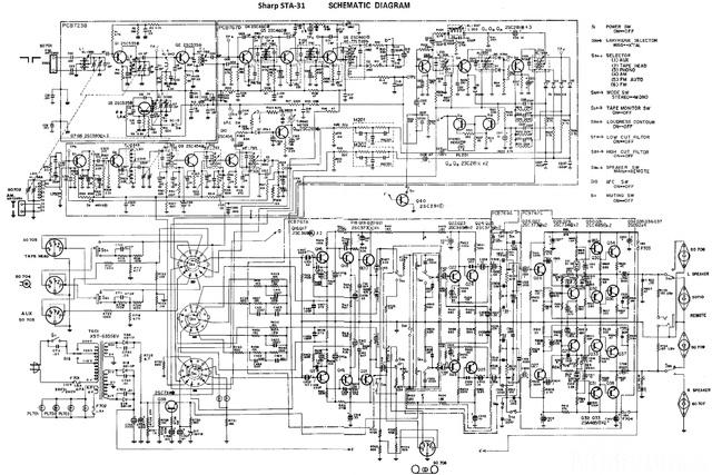 Sharp STA-31 Schaltplan