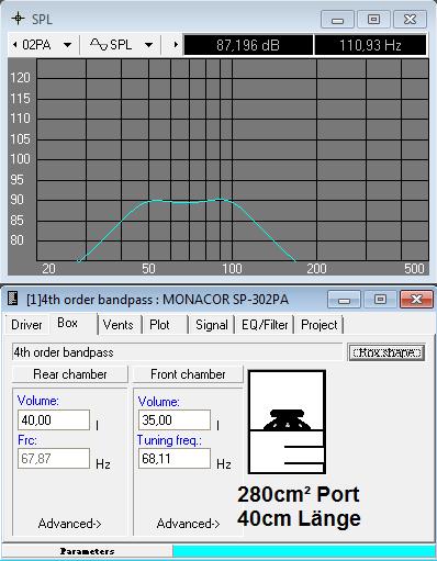 SP-302PA Bandpass Subwoofer