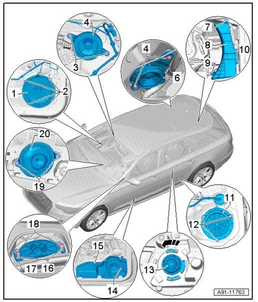 Audi A6 4G Avant mit voluminösen Raumklang erfüllen, Car-Hifi ...