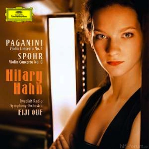 Hilary Hahn, Paganini Cover