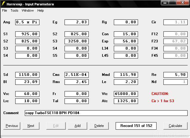 Bph118hrparameter