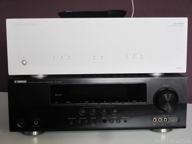 Cambridge Audio 840w, Yamaha RX-V465