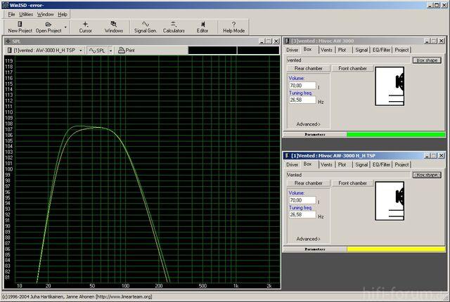 AW3000 ori vs. H_H TSP AM-120 Durchschnitt