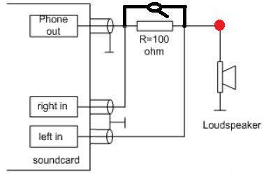 Bild 2.4b_Impedanzmessung Am Kopfhörer-Ausgang Der Soundkarte Mit Schalter Und Markierung Für Adapter