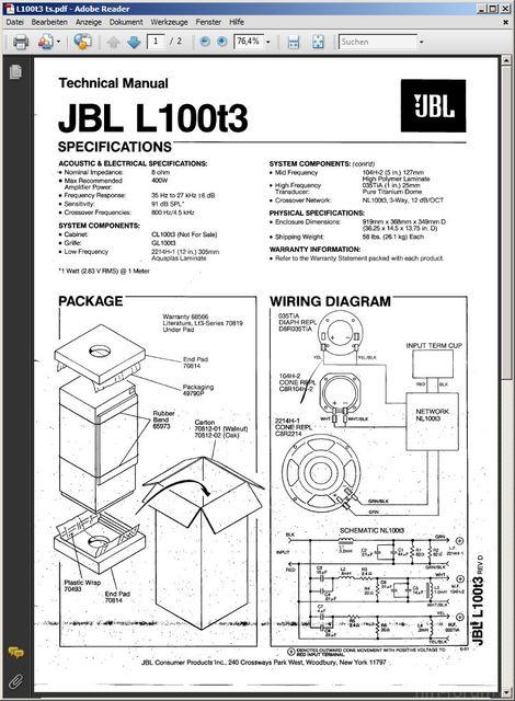 Screenshot  JBL L100T3
