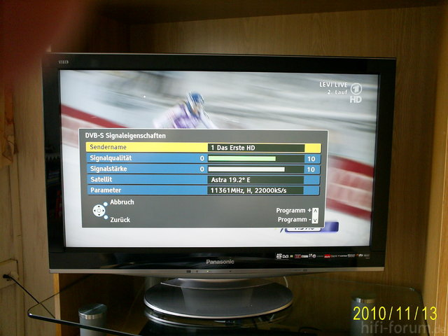 Pegelwerte ARD HD