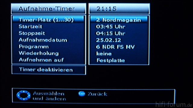 DVB-Receiver-Men? auf einem Mini-Display