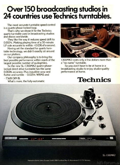 Technics Advertising