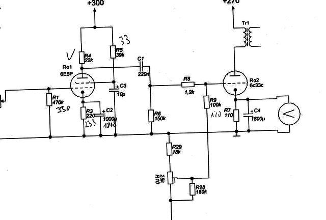 6C33 Teilschaltplan