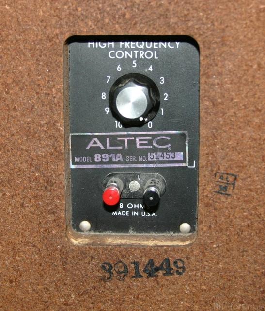 Altec 891A Typenbezeichnung