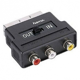 HamaVideo Adapter3Cinch Kupplungen 1xVideo AudioLu R  Scart St