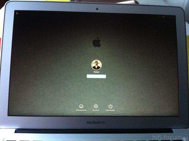 MBA Bildschirm