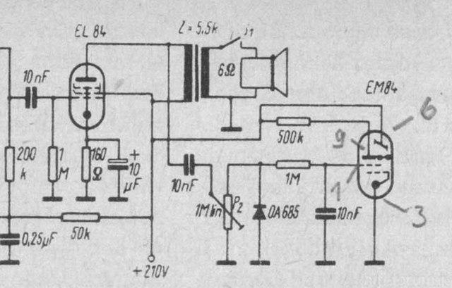 EM84 Schaltung Original