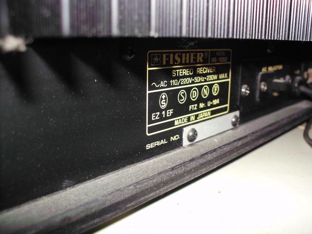 Fisher RS-1052 Bild5
