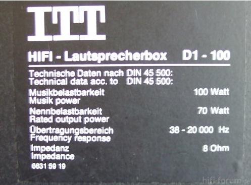 ITT D1-100