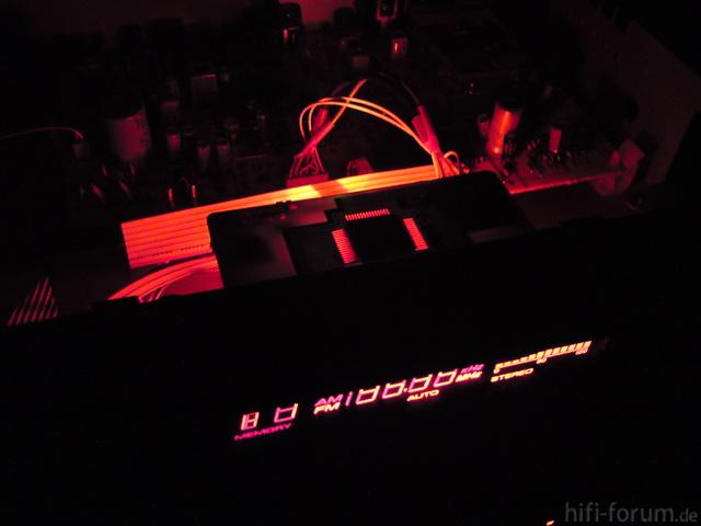 Yamaha TX-350 Pink Beleuchtung