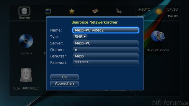 Netzwerkfreigabe