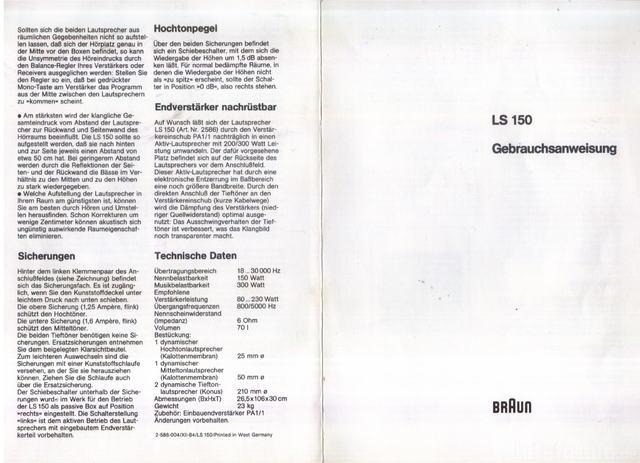 Braun LS 150 BDA ( Usermanual )