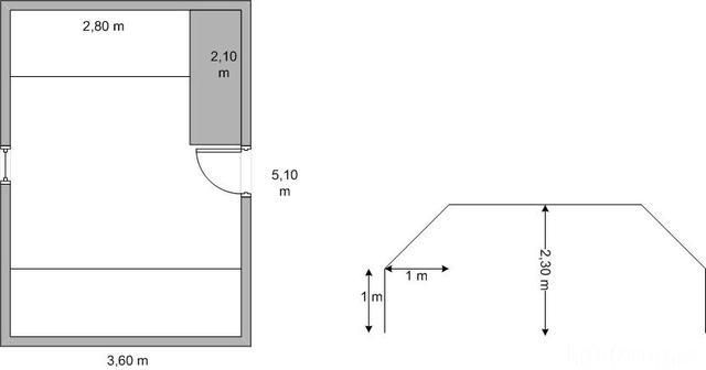 Grundriss Wohnschlafmusikzimmer