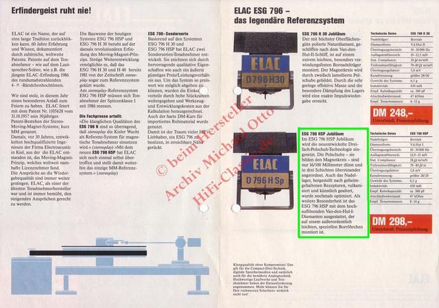 ELAC ESG 796 H30 Jubiläum