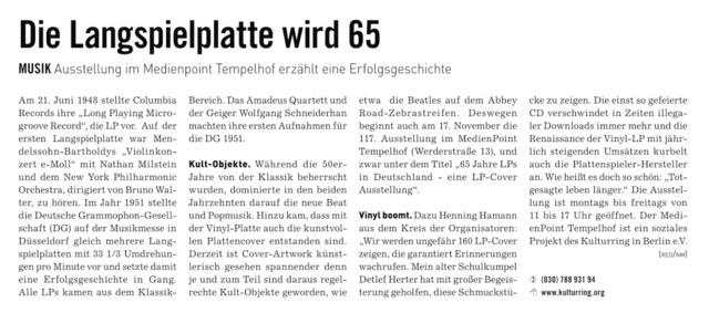 LP wird 65