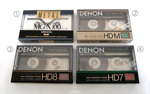Denon Audio Cassettes - Copyright OSwiss