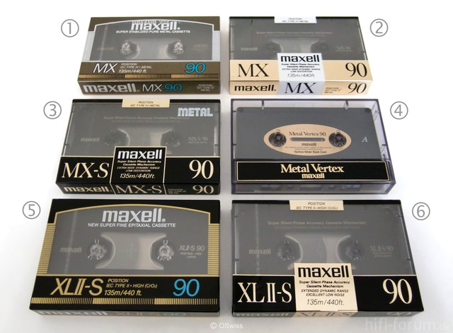 Maxell Audio Cassettes   Copyright OSwiss