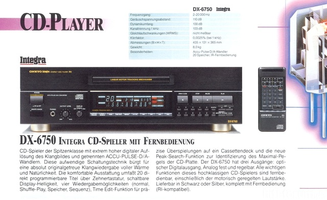 Onkyo DX 6750 (1990 91)