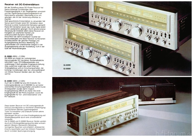 Sansui G-33000 & G-22000 Brochure