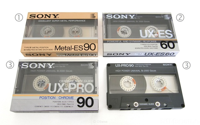 Sony Audio Cassettes   Copyright OSwiss