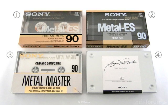 Sony Type IV Audio Cassettes - Copyright OSwiss
