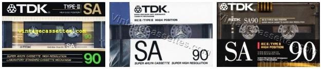 TDK SA 1986 1990