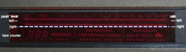 Technics RS B 905 Display
