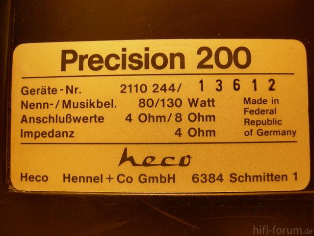 Heco Precision 200